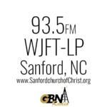WJFT-LP 93.5 FM - Sanford NC Logo
